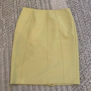 Muted yellow pencil skirt Halogen from Nordstrom